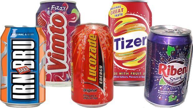 Cinq boissons gazeuses britanniques